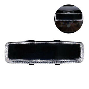 Car Rearview Mirror Edge Crystal Bling Girls Interior Accessories Decoration