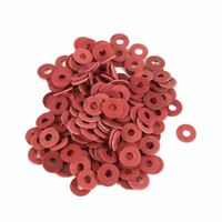200 Pcs 3x8x0.7mm Insulated Fiber Insulating Washers Spacers Red Y9H1