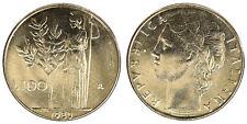 100 LIRE 1980 MINERVA REPUBBLICA ITALIANA ITALY Fdc Unc (da rotolino) £24