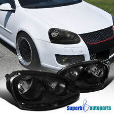 For 2005-2010 VW Volkswagen Golf Rabbit Jetta Black Clear Headlights