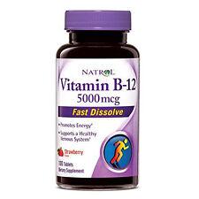 Natrol Vitamin B12 5000 mcg Fast Dissolve Strawberry 100 Tablets
