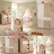 Babyzimmer 3-teilig Wiki Babybett Wickelkommode Kinderzimmer in Sonoma Eiche säg