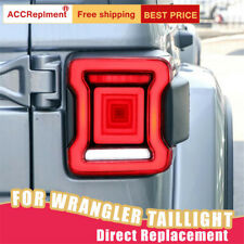 For Jeep Wrangler LED Taillights Assembly Red LED Rear Lamps 2018-2020