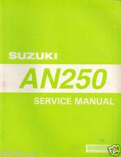 SUZUKI AN250 SERVICE MANUAL FIRST EDITION 1998 ORI