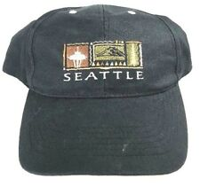 Seattle Black Hat Round Bill Snap Back Skater Hat