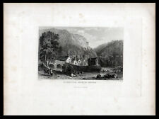 LINMOUTH, NORTH DEVON 1832 Joseph Clayton Bentley - Thomas Allom  ENGRAVING