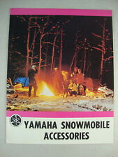 Rare 1972 Yamaha Snowmobile Accessories Nos Oem Sales Brochure Mint Condition!