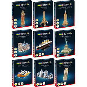 Revell 3D Puzzle Interlocking Foam Mini Collection Ages 10+ Choice of Puzzle