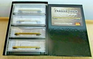"Micro Trains Z Gauge 524 51 010 Four Car Runner Pack "" Trailer "" New IN Boxed"