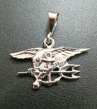 U.S. Navy Seal UDT Trident Pendant .925 Solid Sterling Silver