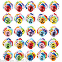 Pack of 10 (Airfill) Hanging BALLOONS All Ages 1-100 Party Decoration