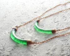 Recycled Jameson Irish Whiskey Bottle Necklace - Recycled Glass and Copper