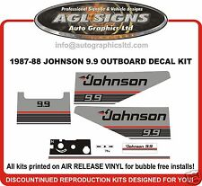 1987 1988  JOHNSON 9.9 hp  DECAL SET OUTBOARD STICKERS REPRODUCTIONS 15 HP