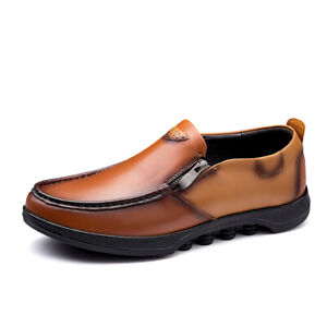 Mens Chic Faux Leather Pumps Slip On Loafers Soft Comfy Driving Moccains Shoes L