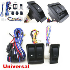 Universal Master Control Power Window Door Switch Harness Cable Kit For 2 Doors