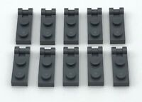 Lego 10 New Dark Bluish Gray Plates Modified 1 x 2 with Handle on End Closed