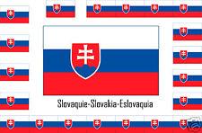 Assortiment lot de 25 autocollants Vinyle stickers drapeau Slovaquie-Slovakia