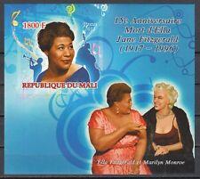 Mali, 2011 issue. Jazz Singer, Ella Fitzgerald on an IMPERFs/sheet.