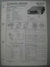 PHILIPS nd371v Autoradio SERVICE MANUAL Edizione 03/58