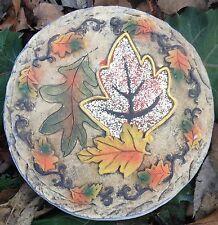Leaf 10, stepping stone, plaque,  plastic mold, concrete mold, cement, plaster
