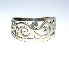 VINTAGE FILIGREE CELTIC DESIGN LOVELY BAND RING STERLING SILVER 925 SIZE 7.5
