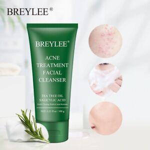 Acne Facial Cleanser Treatment Tea Tree Oil Skin Care Remove Blackhead Face Wash