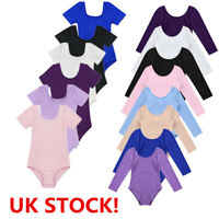 UK Girls Child Ballet Leotard Dress Bodysuit Kids Gymnastics Dancewear Costume