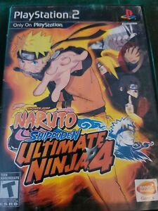 Ultimate Ninja 4: Naruto Shippuden (Sony PlayStation 2, 2009) Case And Game Only