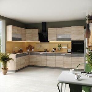 Küche L-Form ALINA mit Hochschrank 180 x 350 cm Küchenzeile Einbauküche NEU