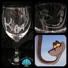 Disney KAA Snake, Jungle Book Wine Glass Handmade Inc FREE Personalised Name!