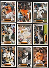 2012 Topps Series 1 & 2 SAN FRANCISCO GIANTS WORLD SERIES CHAMPS Team Set