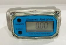1 Npt Digital Turbine Flow Meter With Digital Lcd Display Reads In Liters