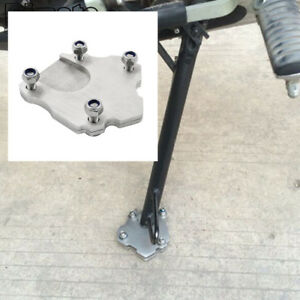 CNC Enlarge Foot Kickstand Side Stand Extension Plate Pad Stainless Steel
