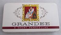 Vintage  5 Grandee Short Panatellas Tin -  Excellent Empty Tin - Collectable