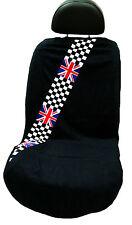 British Checkered Flag  Mini Cooper Seat Armour Seat Cover/Seat Towel