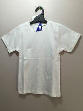 BNWT Boys/Girls Sz 14Y LW Reid Pure Cotton White Short Sleeve School/Sports Top