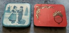 2 Vintage Metal Biscuit Tins - Mackintosh's And Huntley & Palmers