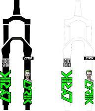 ROCK SHOX FORK fox Stickers Decals Mountain Bike Down Hill MTB #b0201