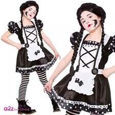 Girls Broken Doll Halloween Costume Kids Childs Fancy Dress Party M