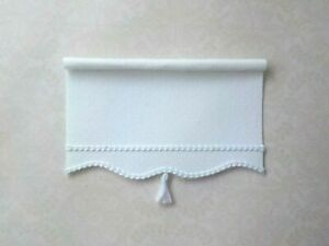 Dollhouse Miniature Handmade White Window Drapes Curtains Valance Shade