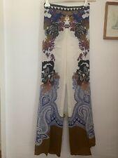 £670 Etro Silk Trousers Net A Porter 10uk New
