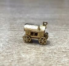Vintage Nuvo Charm Gypsy Caravan Wagon Opens To Fortune Teller 9 Carat Gold