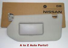 NEW 2013-2016 Nissan Pathfinder, LH, or DRIVER Side Grey Sun Visor W/Mirror,OEM