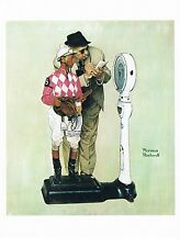 "Norman Rockwell equestrian print ""WEIGHING IN"" 11x15""  jockey horserace Weigh In"