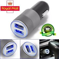 3.1A Dual USB Car Charger Alloy Universal 2 Port Charging For SAMSUNG IPHONE HTC