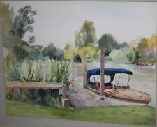 Watercolour Painting Richard Paul  THE MOORING BELOW MARSH LOCK  [PL435]
