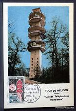 Yt 1417 TOUR DE MEUDON FRANCE  Carte Postale Maximum