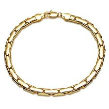 """Men's/Women's Charms Bracelet 18K Yellow Gold Filled Chain 8.6"""" Link Jewelry"""