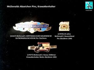 McDonald's Abzeichen Pins AUSSUCHEN
