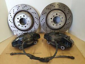 BMW M3 FRONT BRAKE CALIPERS & DRILLED DISCS E90 E92 E93 2283802